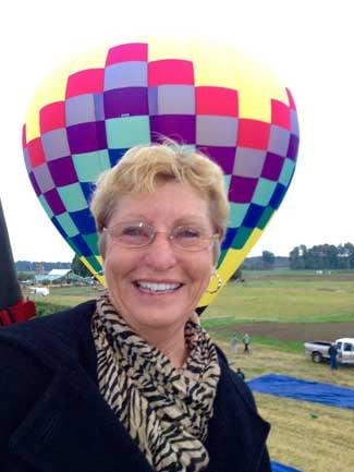 Taking a hot air balloon ride in 2010