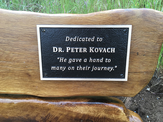 Retired WVCI physician honored with bench at Mount Pisgah
