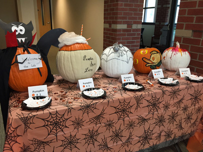 WVCI staff compete in pumpkin-decorating contest