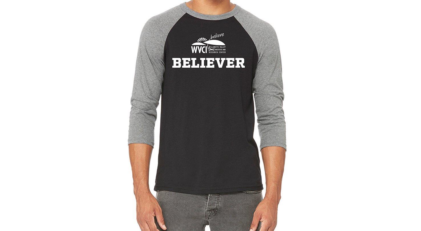 Believe T-Shirt – Baseball Sleeve