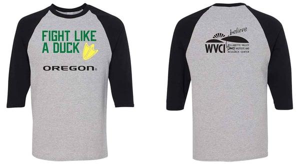 Fight Like a Duck T-Shirt – Baseball-Sleeve